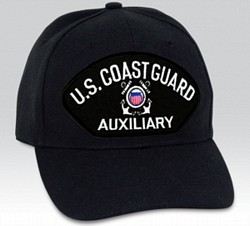 US Coast Guard Auxiliary Insignia Black Ball Cap Import