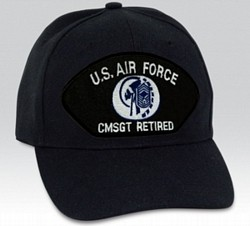 US Air Force Chief Master Sergeant (CMSgt/E-9) Black Ball Cap Import