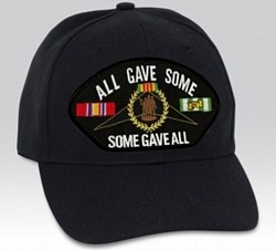 All Gave Some/Some Gave All with Vietnam Ribbons Black Ball Cap Import