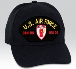 US Air Force Can Do Will Do Civil Engineer Insignia Black Ball Cap Import