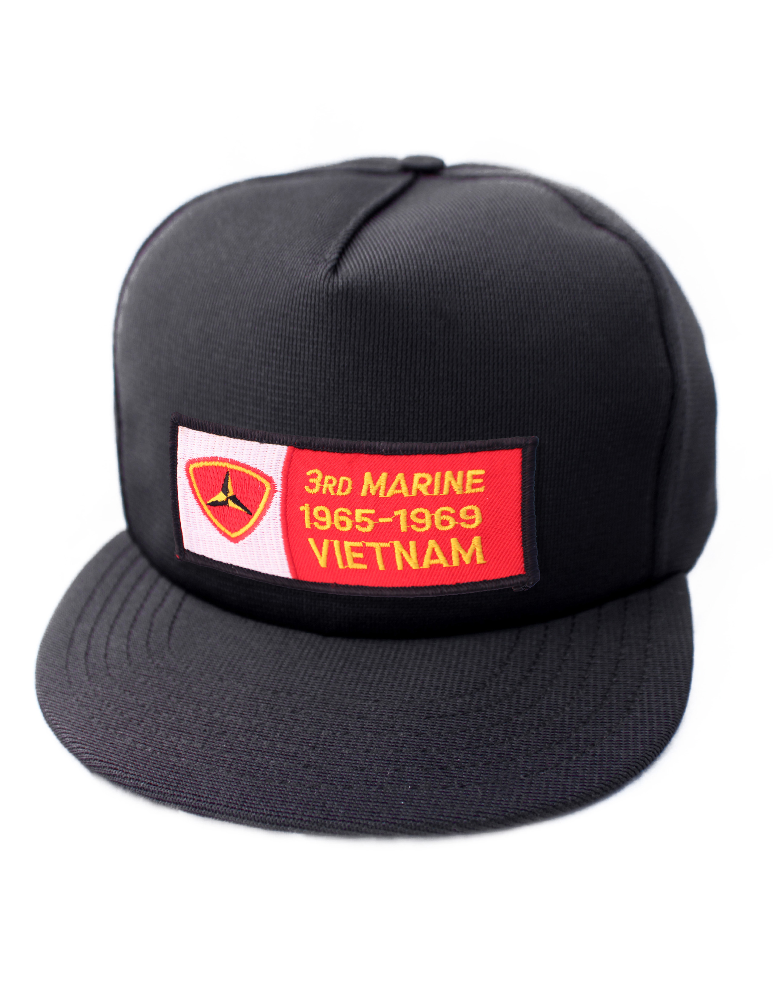 3rd Marine 1965 - 1969 Vietnam Black Ball Cap US Made