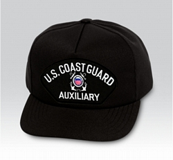 US Coast Guard Auxiliary Insignia Black Ball Cap US Made