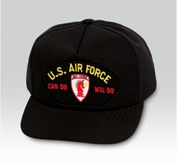 US Air Force Can Do Will Do Civil Engineer Insignia Black Ball Cap US Made