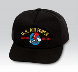 US Air Force Can Do Will Do Charging Charlie Black Ball Cap US Made