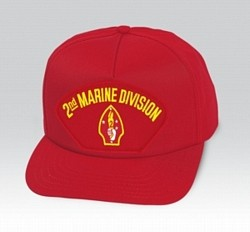 2nd Marine Division Insignia Red Ball Cap US Made