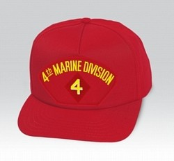 4th Marine Division Insignia Red Ball Cap US Made