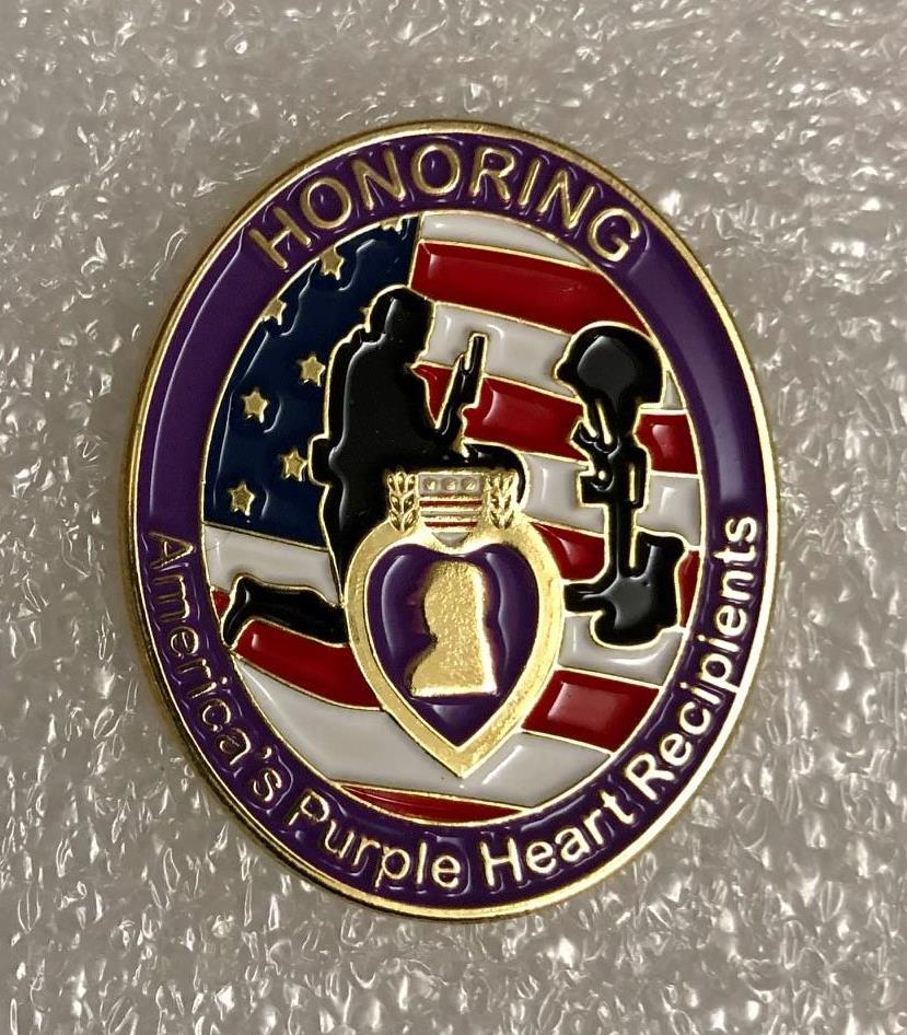 AMERICA'S PURPLE HEART RECIPIENTS PIN