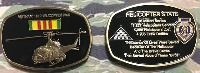 Vietnam War:  The Helicopter War Challenge coins