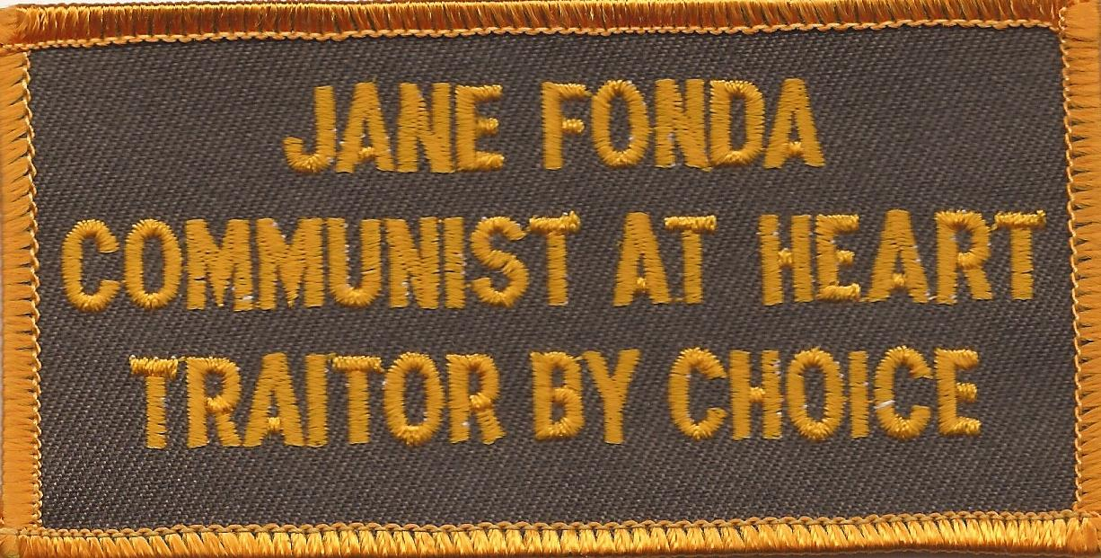 JANE FONDA COMMUNIST PATCH