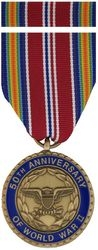 WW II 50th Anniversary Commemorative Medal and Ribbon