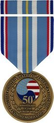50th Anniversary of Korean War Commemorative Medal and Ribbon