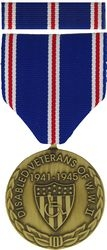 WW II Disabled Veterans Commemorative Medal and Ribbon