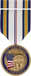 WW II 60th Anniversary Commemorative Medal and Ribbon