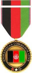 Afghanistan Commemorative Medal and Ribbon