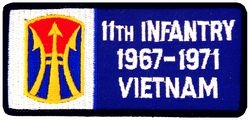 11th Infantry Division Vietnam '67-'71 Small Patch (3 inch)