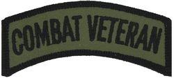 Combat Veteran OD Small Patch (3 inch)