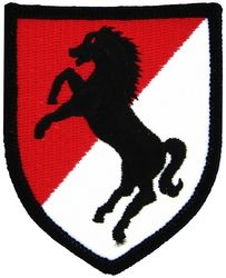 11th Armored Cavalry Small Patch (3 inch)