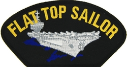 Flat Top Sailor Black Patch (4 inch)