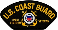 US Coast Guard Iraqi Freedom Veteran with Ribbons Black Patch (4 inch)