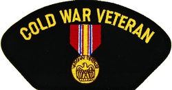 Cold War Veteran with National Defense Medal Black Patch (4 inch)