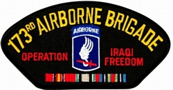 173rd Airborne Brigade Operation Iraqi Freedom w/ Ribbons Black Patch (4 inch)