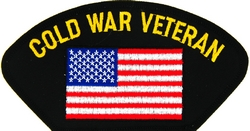 Cold War Veteran with United States Flag Black Patch (4 inch)