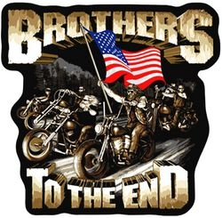 "Brothers to the End Back Patch (4 3/4"" x 5 )"