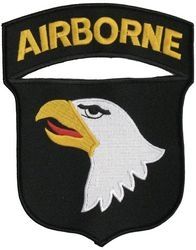 101st Airborne Back Patch (6 x 7)
