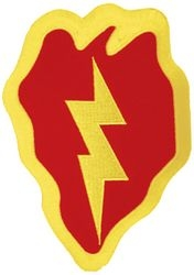 25th Infantry Division Back Patch ( 5 x 7)