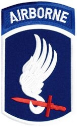 "173rd Airborne Division Back Patch (4 1/4"" x 7 3/8"")"
