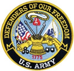 US Army Defenders of Our Freedom Back Patch (5 inch)