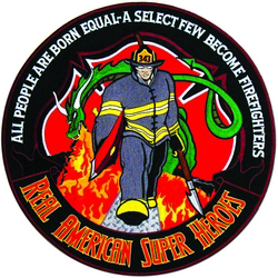 Firefighters Real American Super Hereos Back Patch (12 inch)