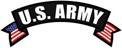 US Army Rocker Back Patch (10 X 4 inch)