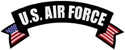 US Air Force Rocker Back Patch (10 X 4 inch)