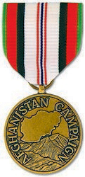 Afghanistan Campaign Full Size Medal