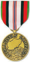 Afghanistan Campaign Anodized Full Size Medal