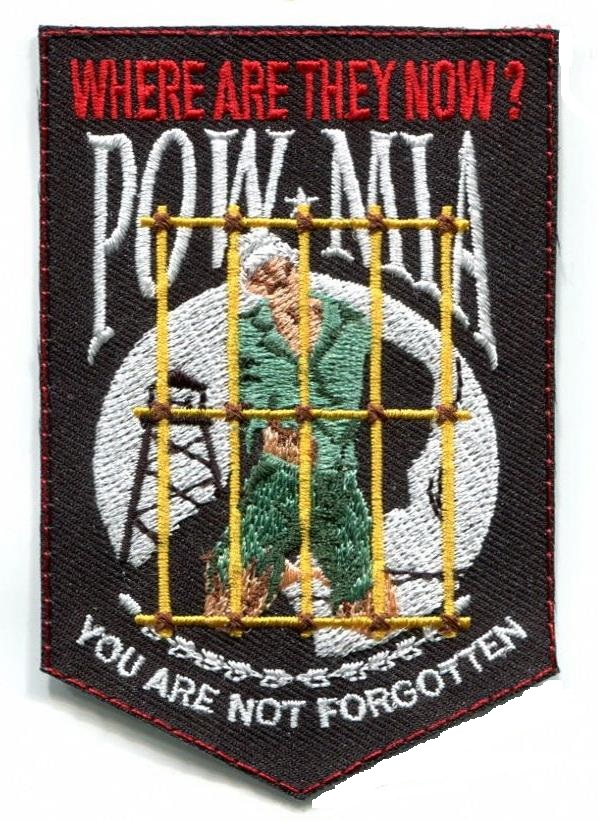 POW/MIA WHERE ARE THEY AMERICA PATCH