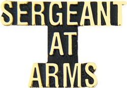 Sergeant at Arms Script Pin (1 1/4 inch)