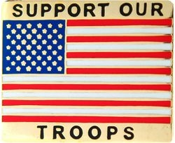 Support Our Troops United States Flag Pin (1 1/8 inch)