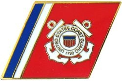 United States Coast Guard Racing Stripes Pin (1 1/4 inch)