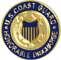 United States Coast Guard Honorable Discharge Insignia Pin (9/16 inch)