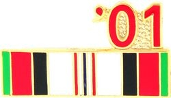 2001 Afghanistan Ribbon Pin (7/8 inch)