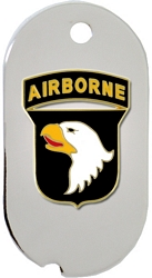 101st Airborne Division Dog Tag Key Ring