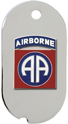 82nd Airborne Division Dog Tag Key Ring