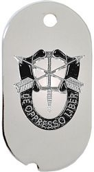 Special Forces De Opresso Liber Cutout Dog Tag Necklace