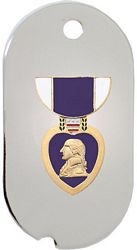 Purple Heart Dog Tag Necklace