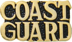 Coast Guard Script Pin (1 inch)
