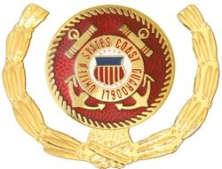 United States Coast Guard Insignia with Wreath Pin (1 1/8 inch)