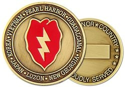 25th Infantry Division Challenge Coin (38MM inch)