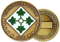 4th Infantry Division Challenge Coin (38MM inch)